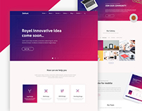 Minimal Creative PSD Web template Redesign