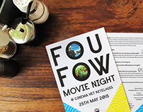 Fou Fow movie night flier