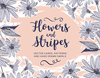 "Big Collection ""Flowers and stripes"""