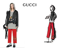 My project about a Gucci Illustration. Hope you love it