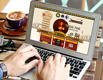 Magician website home page design