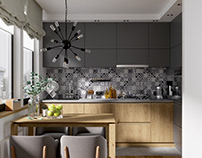 Kitchen in the country house