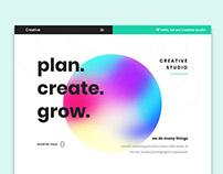 Creative Studio UI Design Concept