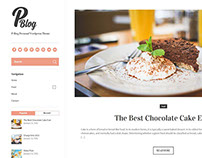 Free Theme Wordpress ( P-blog )