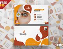 Spa & Beauty Saloon Business Card PSD Template