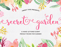 Secret Garden Hand-lettered Script