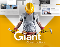 Giant Construction PowerPoint Presentation Template