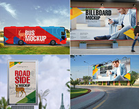 11 Essential Outdoor Mockups For Advertising Vol. 4