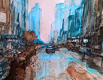 Watercolor Cities 3