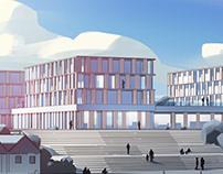 Grömitz // Architecture Illustration