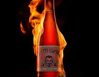 Beer Bottle on Fire