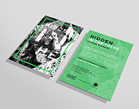 FREE PSD Flyer Mockup - Hidden in the trees