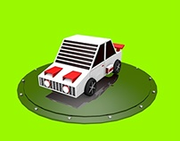 Low Poly Raçing car