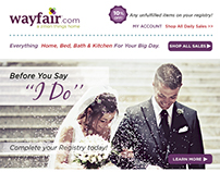 Wayfair Marketing Email Ad Design & Banner Ad