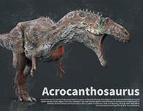 Acrocanthosaurus making