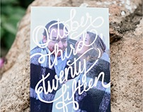 Hand Lettered - Save the Date