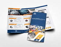 Auto Parts Catalog Tri-Fold Brochure Template Vol.2