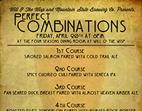 Perfect Combinations Dinner Menu
