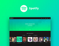 Spotify Homepage Design Concept