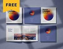 Free Square Catalogue, Magazine Mockup