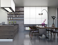 Kitchen + dining table in Skopje City Tower