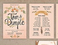 Tom + Dimple Wedding Invitation