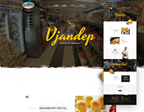 Vjandep One Page Website Concept | Personal Project
