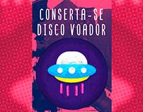 Poster - Quadro Conserta-se Disco Voador