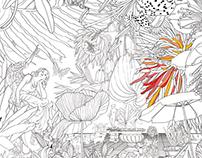 Hachette Coloring Book | Gardens