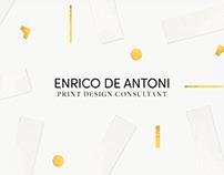 ENRICO DE ANTONI - PRINT DESIGN CONSULTANT