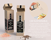 Sustainability - Packaging for Salt and Pepper