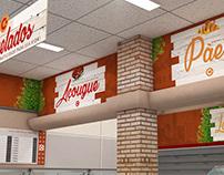 Costa Compacto Supermarket - Sinalização e Fachada