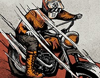 Illustration | Vintage Motorcycle & Sock Design