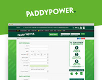 Light Registration Page - Paddy Power