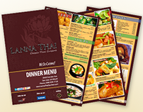 Lanna Thai Dinner Menu