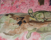 Watercolor Turtle - Mississippi Swamp
