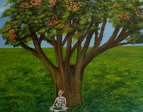 The Gulmohar tree