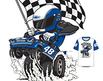 Kids NASCAR racing t-shirt designs
