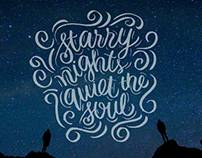 Starry Nights   Hand Lettering