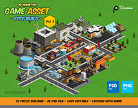 2D Isometric Game Asset - City Build Vol 2