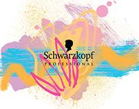 Schwarzkopf Professional summer campaign illustration