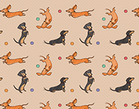 Dachshund Dress - Pattern Design and Sewing