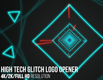 High Tech Glitch Logo Opener, After Effects Templates