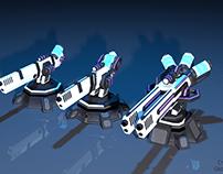 Low-poly Railguns 3-lvl