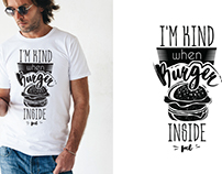 Lettering T-shirt prints