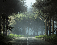 rainy forest (full CGI)