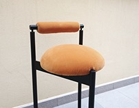 Low backrest chair or stool :|