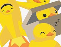 Rubber duck / Telegram stickers set