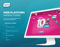 WEB PLATFORM - Unique Codes - Prio Digital Campaign