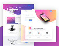 Reflex - Mobile App Landing Page & Product Showcase